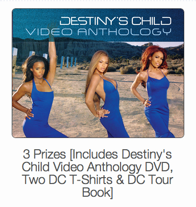 Enter to win Destiny's Child Video Anthology Prize Pack
